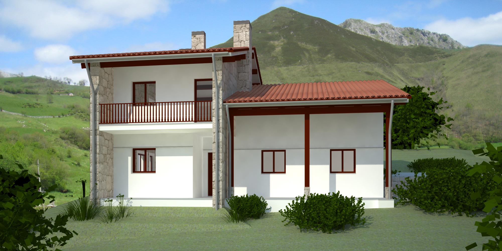 Vivienda unifamiliar en amieva asturias dolmen arquitectos - Arquitectos asturias ...