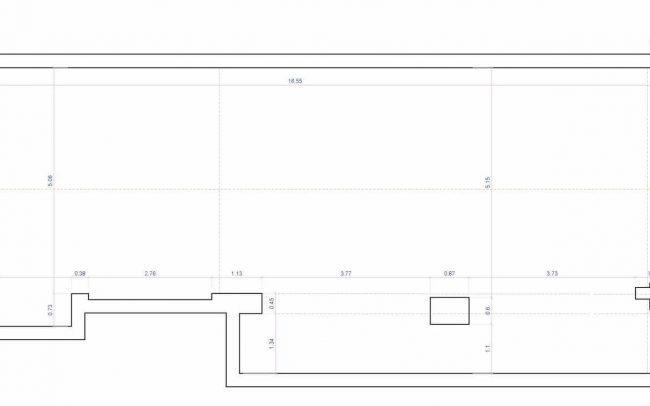Adecuación de local para cafetería en Gijón proyecto del estudio de arquitectura Dolmen Arquitectos planta
