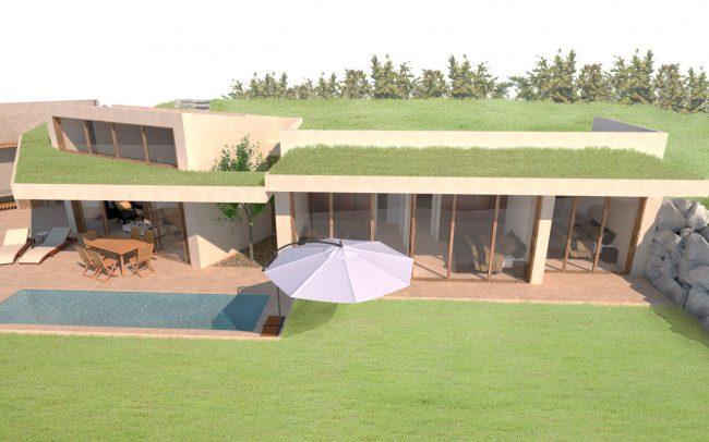 Arquitectura sostenible en Asturias vivienda unifamiliar en Santurio proyecto de Dolmen Arquitectos vista 4