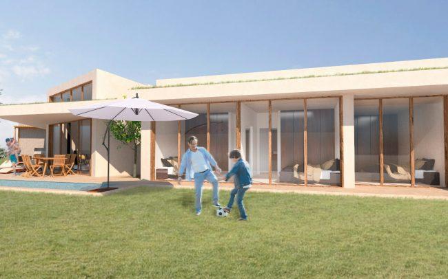 Arquitectura sostenible en Asturias vivienda unifamiliar en Santurio proyecto de Dolmen Arquitectos vista 5