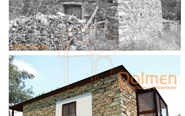 Casa rural en Pasadía Villayón Asturias vista suroeste