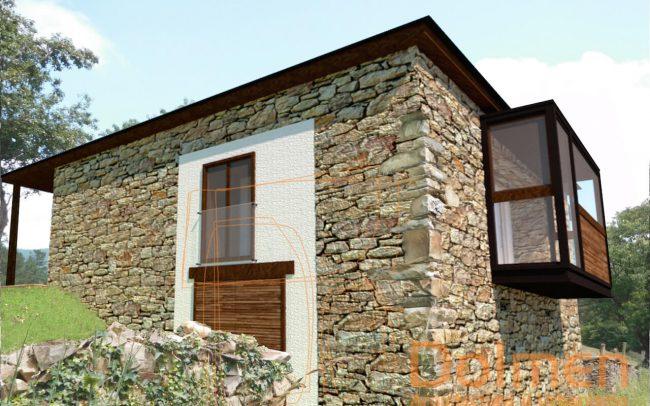 Casa rural en Pasadía Villayón Asturias vista suroeste estado reformado