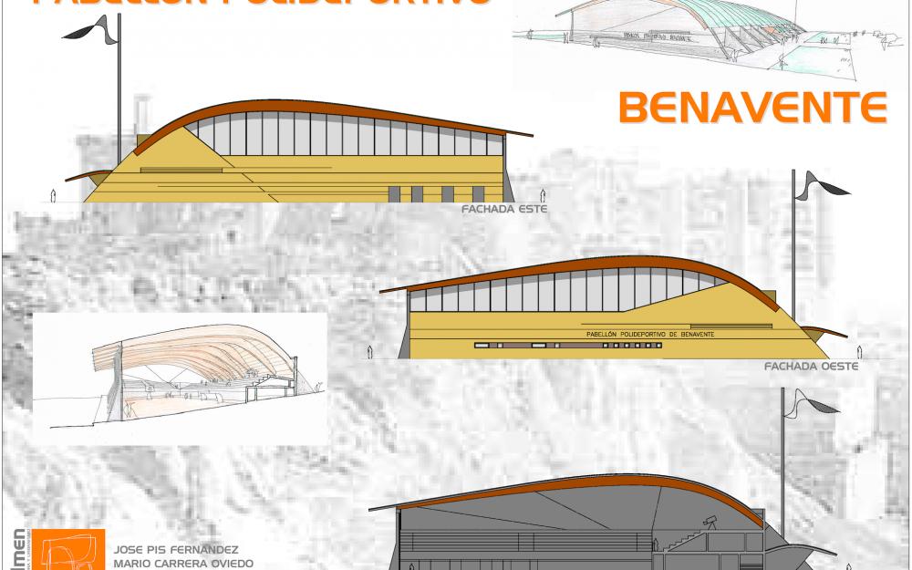 Concurso polideportivo Benavente Zamora Dolmen Arquitectos fachadas