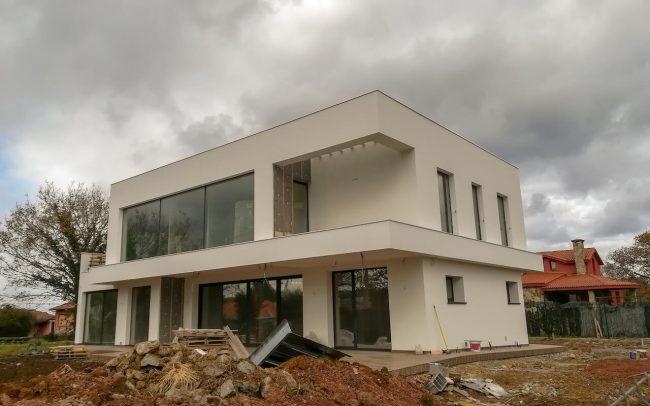 Construcción de vivienda unifamiliar aislada en Santurio Gijón Dolmen Arquitectos