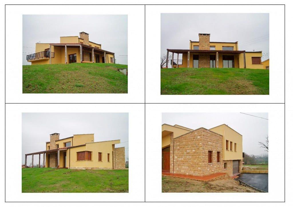 Construcción de chalé en Siero Asturias obra de Dolmen Arquitectos