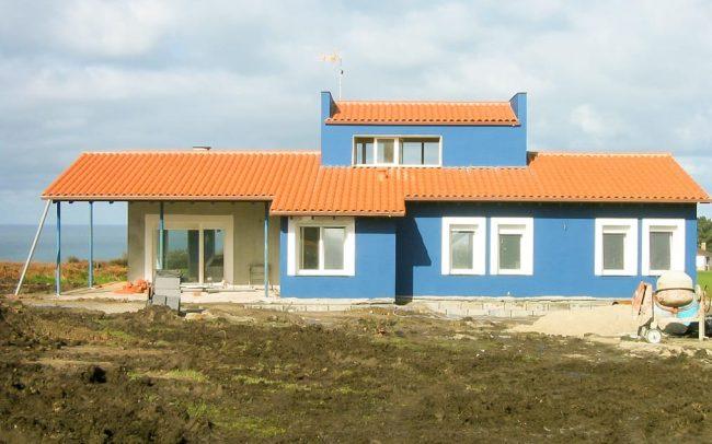 Construcción de un chalé individual en Novellana Asturias