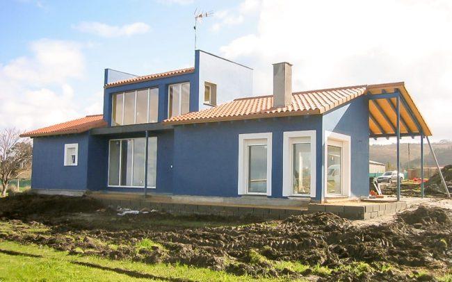 Construcción de un chalé en Novellana Asturias