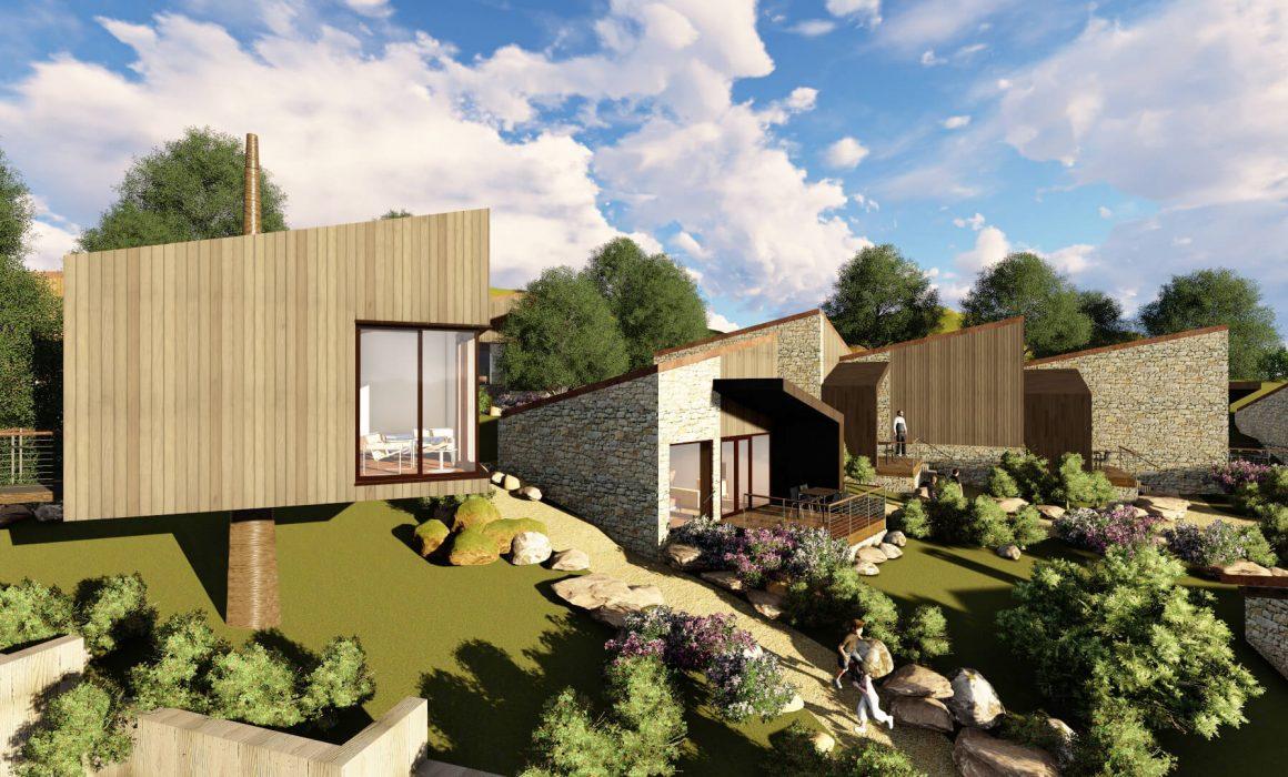 Diseño de apartotel en Linares Proaza Asturias proyecto de Dolmen Arquitectos