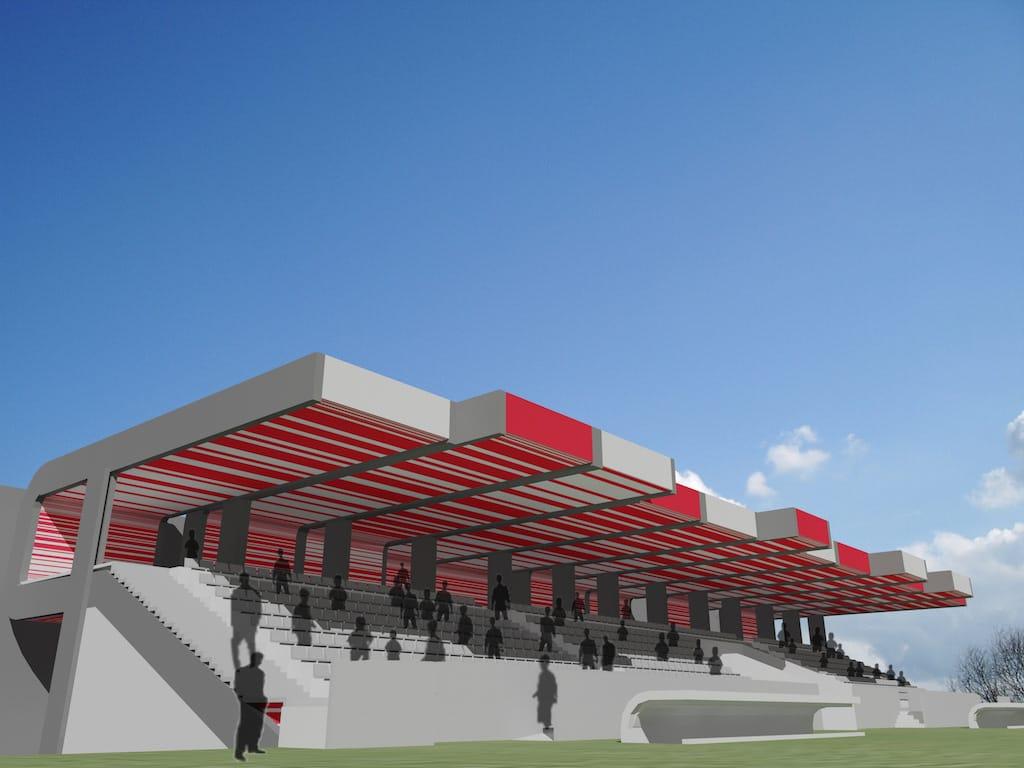 Diseño de graderío para campo de fútbol en Candás Asturias
