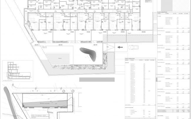 Edificio de viviendas en Gijón Dolmen Arquitectos Asturias planta semisótano