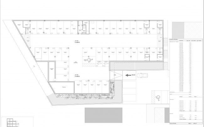 Edificio de viviendas en Gijón Dolmen Arquitectos Asturias planta sótano