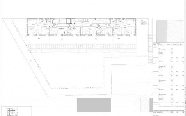 Edificio de viviendas en Gijón Dolmen Arquitectos Asturias planta tercera