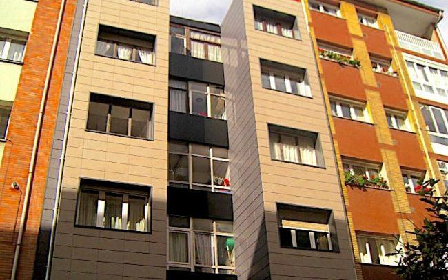 Fachada ventilada reformada en Gijon Asturias