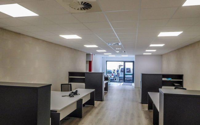 Nuevas instalaciones de iLanza en el Polígono de Roces Gijón obra del estudio de arquitectura de Asturias Dolmen Arquitectos