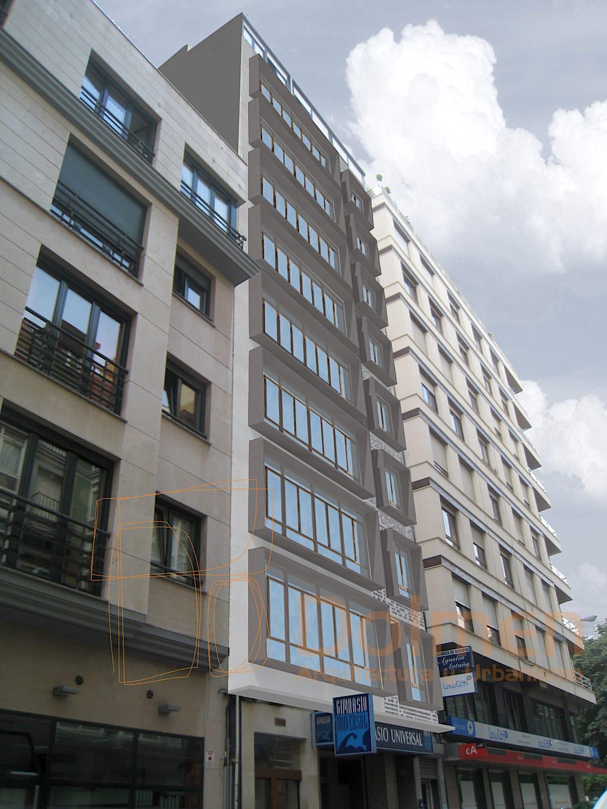 Propuesta 1 de rehabilitacion de fachada en gijon por - Arquitectos en gijon ...