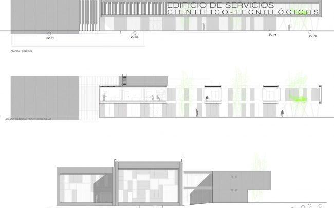 Proyecto de Edificio del Centro de Servicios Científico-Tecnológicos del Campus de Gijón Dolmen Arquitectos