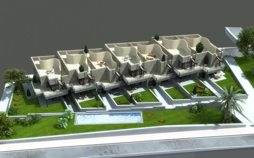 Proyecto de edificio de viviendas en Mogro Cantabria diseño de arquitecto de Asturias Dolmen Arquiectos Gijón