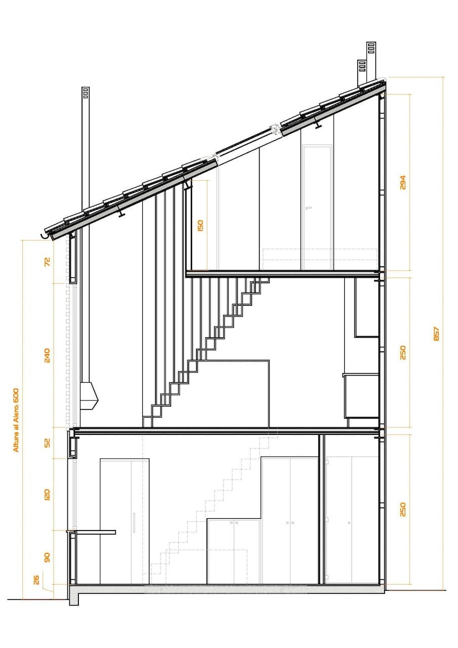 Vivienda unifamiliar entre medianeras en cimadevilla - Arquitectos en gijon ...