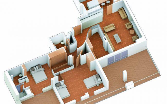 Reforma de piso en Gijón calle Dindurra Dolmen Arquitectos