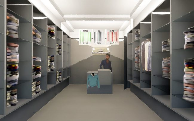 Reforma de tienda de ropa italiana en Santander Cantabria