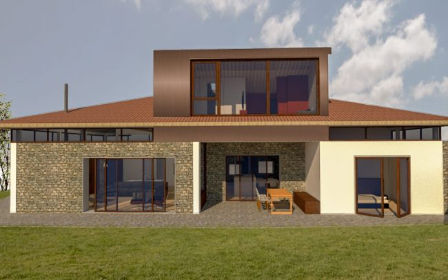 Reforma de vivienda en Somió Gijón proyecto de Dolmen Arquitectos