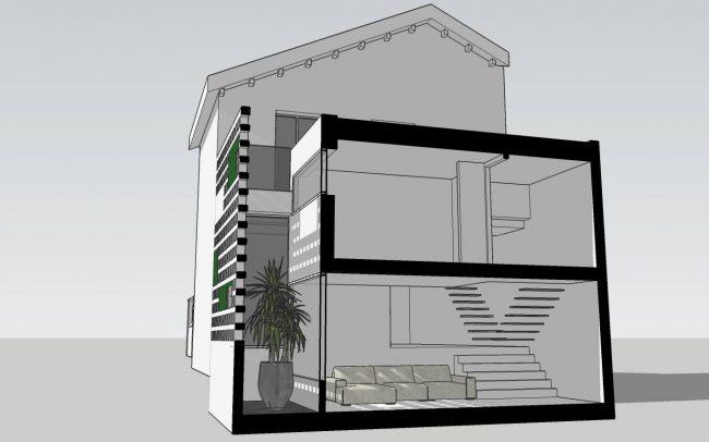 Reforma de vivienda unifamiliar adosada en Gijón proyecto de Dolmen Arquitectos