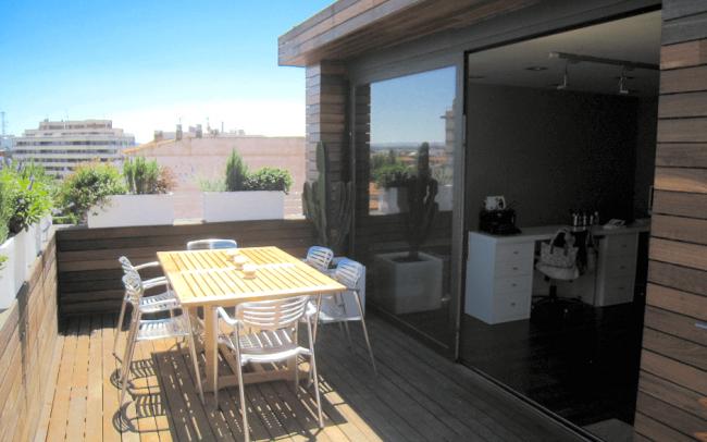 Reforma interior de duplex en Zamora terraza