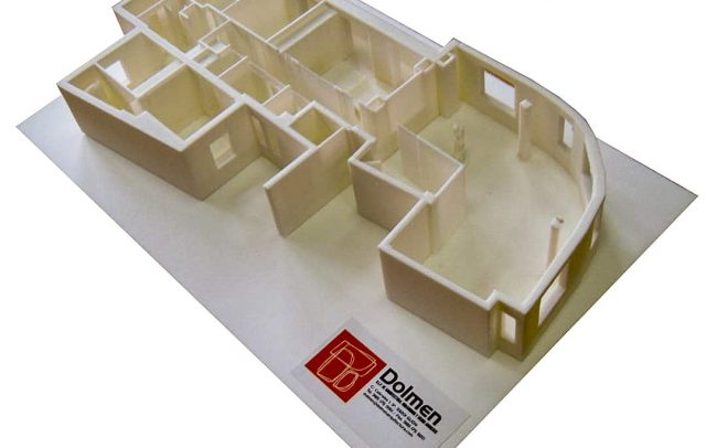 Reforma interior de una vivienda en la calle Uría de Oviedo Asturias maqueta