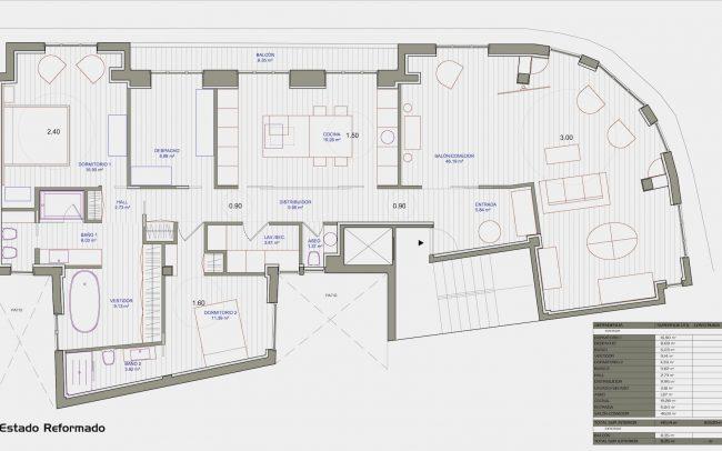 Reforma interior de una vivienda en la calle Uría de Oviedo Asturias estado reformado