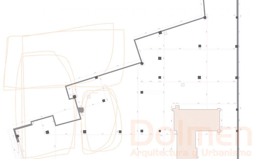 Reforma local Asturias centro de formación en Gijón proyecto de Dolmen Arquitectos planta estado actual