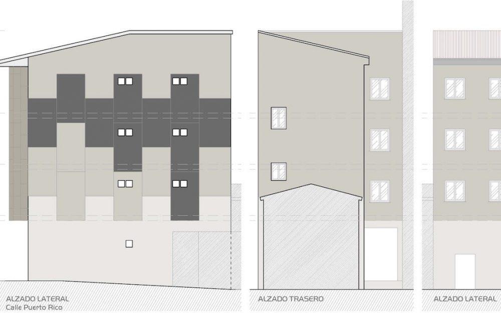 Rehabilitación de fachadas Asturias Mieres por Dolmen Arquitectos