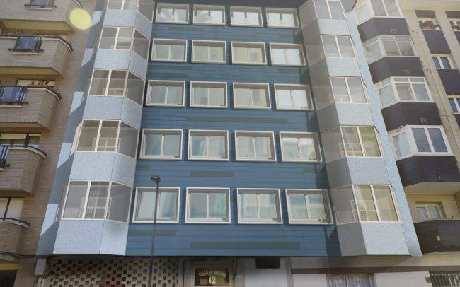 Rehabilitación de fachadas en Gijón calle Tirso de Molina Dolmen Arquitectos 2