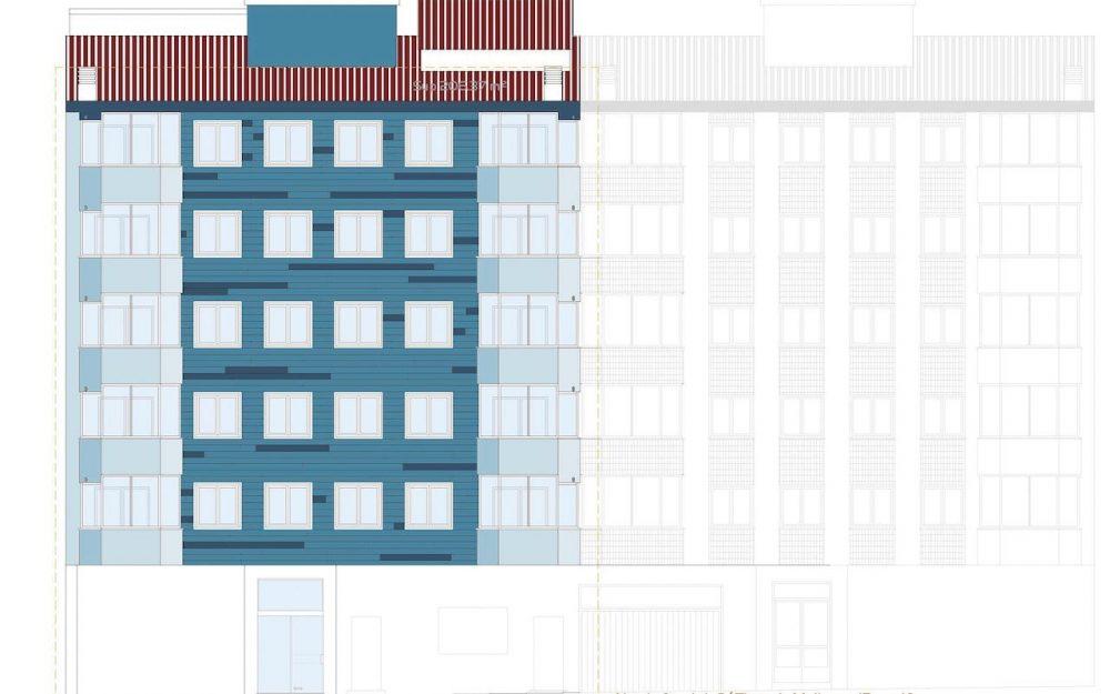 Rehabilitación de fachadas y cubierta en Gijón calle Tirso de Molina Dolmen Arquitectos