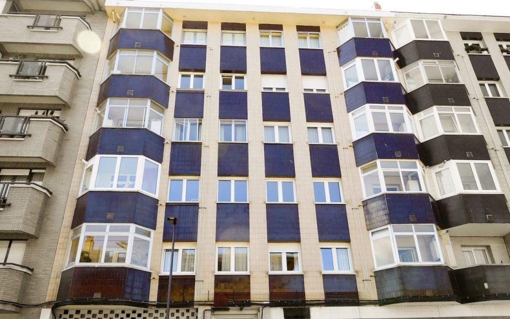 Rehabilitación fachadas en Gijón calle Tirso de Molina Dolmen Arquitectos
