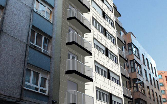 Rehabilitación de fachadas y terrazas en Gijón Asturias Calle Juan XXIII