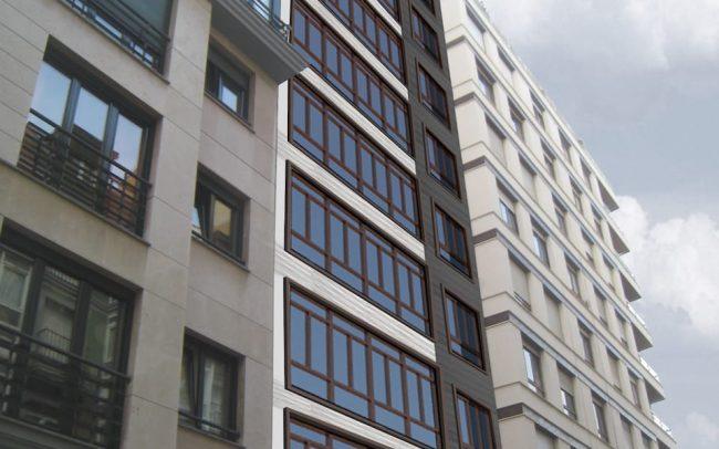 Rehabilitación de edificio en calle Cura Sama en Gijón obra de Dolmen Arquitectos de Asturias