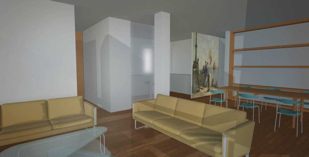 Reforma interior de una vivienda en gij n dolmen arquitectos for Oficina de la vivienda gijon