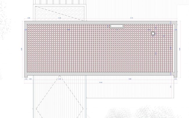 Vivienda unifamiliar aislada en Langreo Planta Cubierta diseño de Dolmen Arquitectos