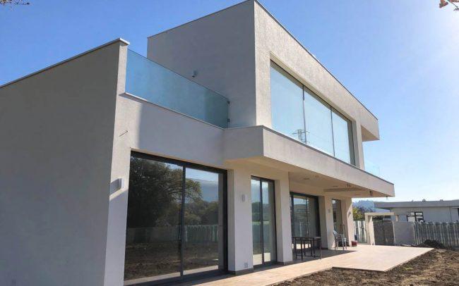 Vivienda unifamiliar aislada en Santurio Gijón diseño de Dolmen Arquitectos de Asturias