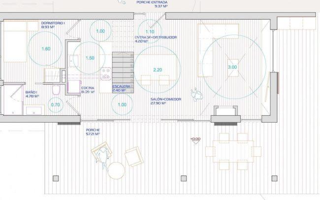 Vivienda unifamiliar aislada en Valdornón Gijón proyecto del estudio de arquitectura Dolmen Arquitectos