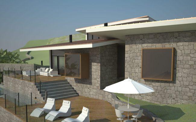 Vivienda unifamiliar alto standing en El Puntal Asturias diseño de Dolmen Arquitectos