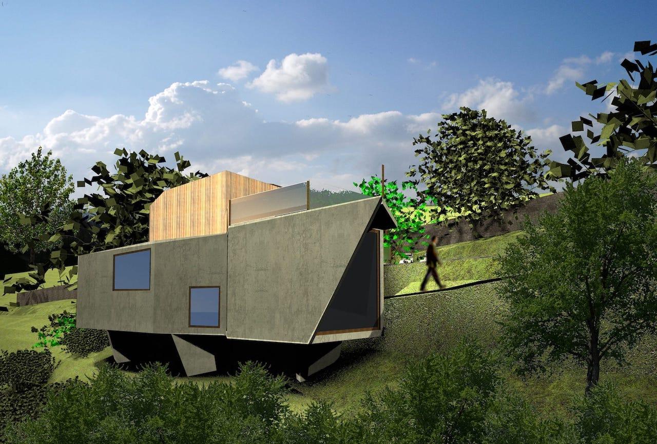 Vivienda unifamiliar en la providencia gij n dolmen for Oficina de la vivienda gijon