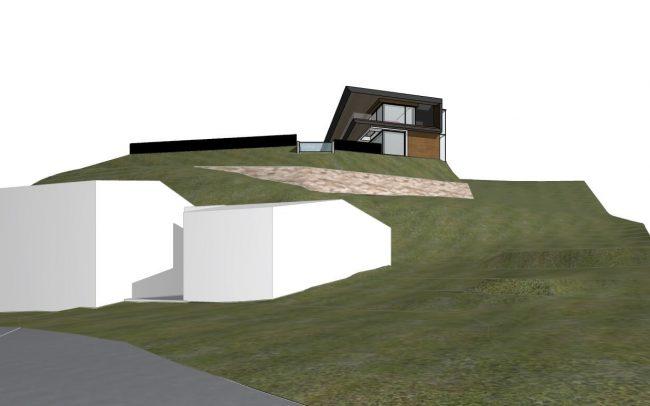 Vivienda unifamiliar en El Infanzón Gijón proyecto de Dolmen Arquitectos