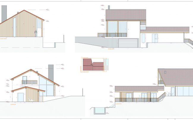 Vivienda unifamiliar en La Tejera Carreño Dolmen Arquitectos Asturias Alzados