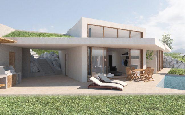 Arquitectura sostenible en Asturias vivienda unifamiliar en Santurio proyecto de Dolmen Arquitectos vista 2