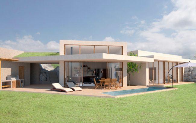 Arquitectura sostenible en Asturias vivienda unifamiliar en Santurio proyecto de Dolmen Arquitectos vista 3