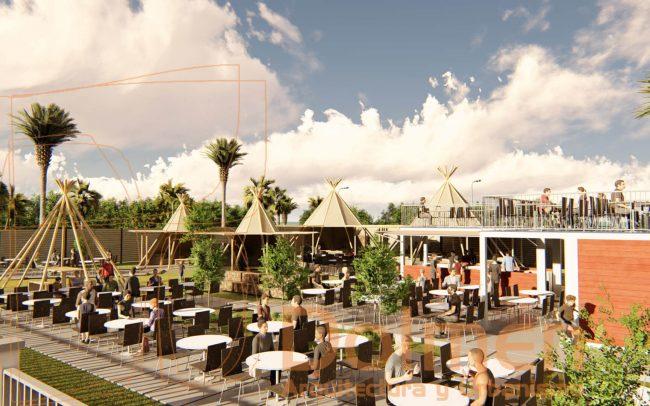 Beach Club en Salinas Asturias diseño de Dolmen Arquitectos