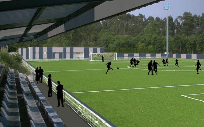 Campo de fútbol de Posada de Llanes Asturias remodelación Dolmen Arquitectos de Gijón