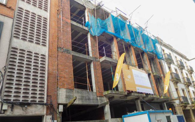 Construcción de edificio en Gijón calle Cervantes Dolmen Arquitectos Asturias