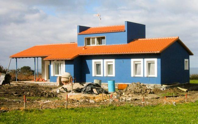 Construcción de un chalé en Novellana en Asturias